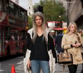Streetstyle: statement grey lengths