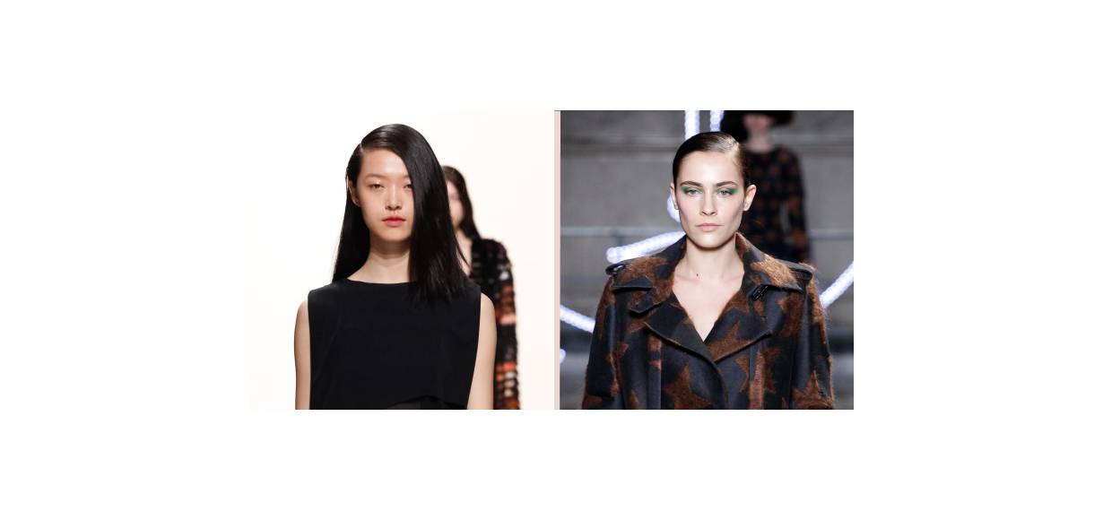 Battle of the hairstyles: slick up-do VS slick side-hair