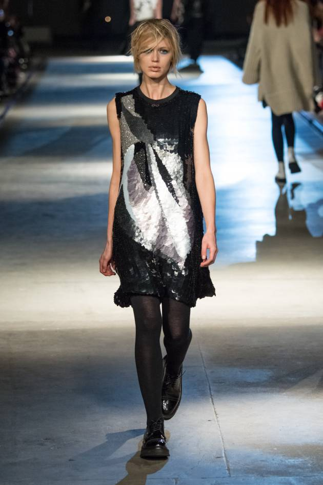 The eye-obscuring fringe spotted on the catwalk