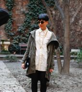 Streetstyle: the jet-black bowl cut