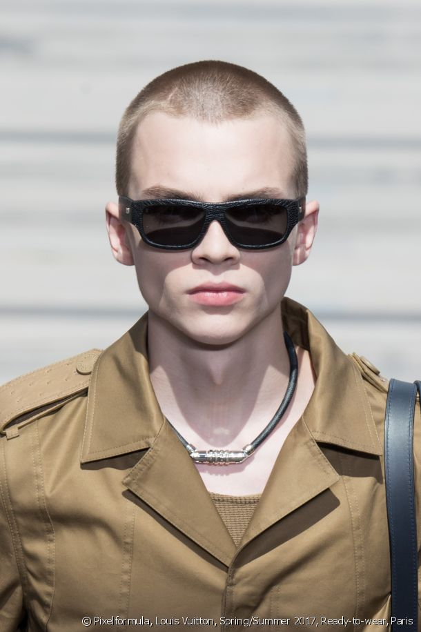 The military cut spotted at the Spring-Summer 2017 Louis Vuitton Fashion Show