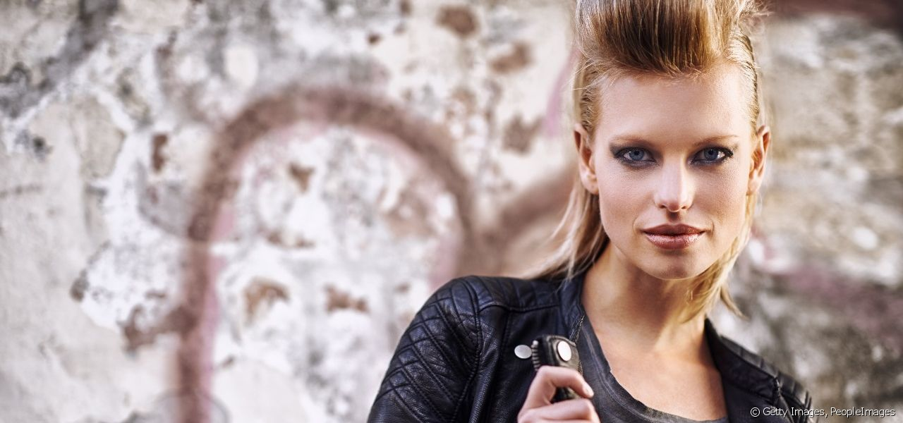 Enhance your hairstyles to create a rock punk look!