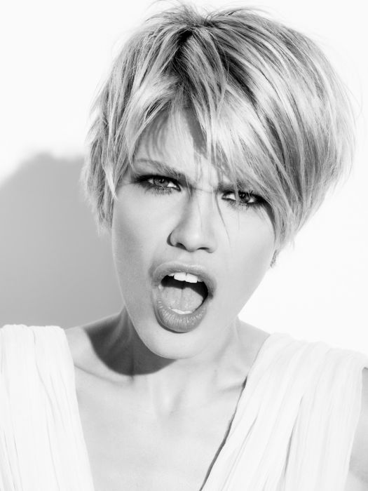 Unstructured short haircuts for a feminine boyish cut.