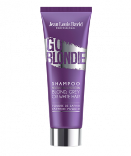 <p>Enriched with sapphire powder, <b>GO BLONDIE</b> shampoo neutralises yellow tones in blonde, white or grey hair. Its precious formula, based on purple pigments and free from silicon, sulphates and parabens, acts on the centre of the hair fibre and revives colour, for optimal protection and a radiant shine.<br /><br />Format : 250ml</p>