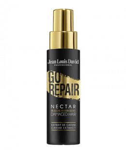 <p>Thanks to its formula enriched in extract of Caviar, GO REPAIR nectar adds nutrition and shine to your hair. Free from silicon, parabens and sulphates, it restores and revitalises the hair without weighing it down, adding softness and shine.</p> <p>Size: 150ml</p>