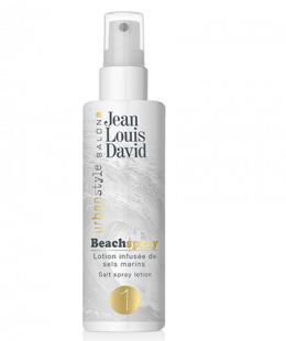 "<p>Jean Louis David Beach Spray infused with marine salts provides volume, texture and a matte finish for wavy hair and a ""back from the beach"" look.</p> <p> </p> <p>Fixation : 1</p> <p>Contenance : 125ml</p>"